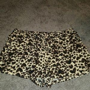 Worn once animal print shorts